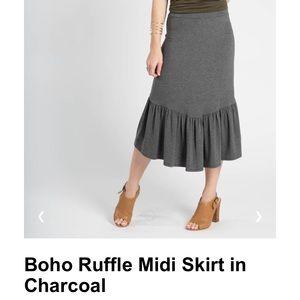 Agnes & Dora Boho Ruffle Skirt